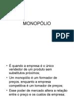 AULA 5 - Estruturas de Mercado