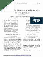 Vocabulaire technique international de l'ingénieur