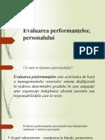 evaluarea personalului