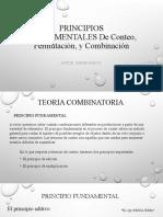 PRINCIPIOS FUNDAMENTALES De Conteo, Permutación, Combinación