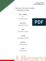 TAREA 1 - CLASIFICACION DE AUDITORIA