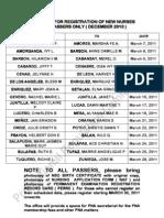Initial Registration Schedule for New Nurses in Cebu