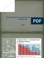 POSSIBLE ENVIROMENTAL IMPACTS OF WASTE MANAGEMENT