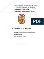 INTERRUPTOR EN ALTA TENSIÓN