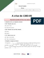 Ficha de Trabalho crise de 1383-85