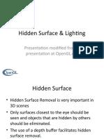 4 Hidden Surface and Light