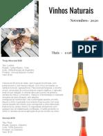 Vinhos Naturais - Novembro