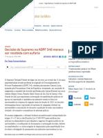 ConJur - Tiago Barbosa_ A decisão do Supremo na ADPF 548 merece ser recebida com euforia