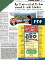 """Ricci coinvolge l'Università """"Diventi il pensatoio della felicità"""" - Il Resto del Carlino del 23 febbraio 2011"""