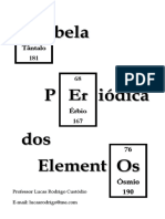 Tabela Periódica - 2019