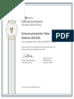 CertificadoDeFinalizacion_Excel para principiantes Tablas dinamicas 3652019