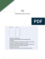 TD modele lineaire gaussien simple