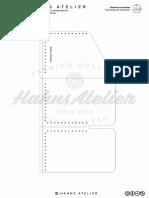 Leather Minimalist Card Holder HahnsAtelier A4 Size