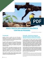 MAUS-TRATOS AOS ANIMAIS E VIOLÊNCIA CONTRA AS PESSOAS