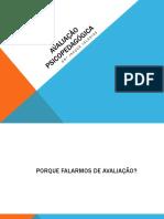 Avaliação psicopedagógica_aulão