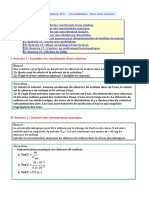 Chimie Solutions