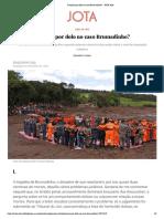 2019, Viana, Punição por dolo no caso Brumadinho