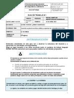 Guia de trabajo castellano grados 4 # 1,2 Y 3