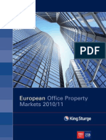 King Sturge European Office Report 2010