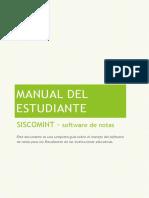Manual Siscomint Para Estudiantes v2.0