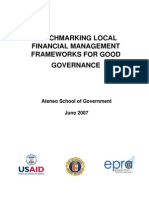 Benchmarking Local Financial Management Frameworks for Good Governance