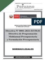 R.D. Nº 0005-2021-EF-50.01