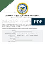 PRUEBA DE ESTILOS DE AUTORIDAD EN EL HOGAR
