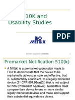 Biometrix - FDA-510K and Usability Studies