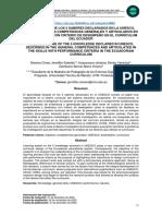 COMPRENSIÓN DE LOS 5 SABERES DECLARADOS EN LA UNESCO, DESCRITOS EN LAS COMPETENCIAS GENERALES Y ARTICULADOS EN LAS DESTREZAS CON CRITERIO DE DESEMPEÑO EN EL CURRÍCULUM DEL ECUADOR