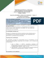 Guía de actividades y rubrica de evaluación - Tarea 2 - La ciencia económica