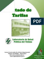 LSP-INS-AC-002 Listado de Tarifas 2020