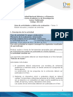 Guia de actividades y Rúbrica de evaluación - Tarea 3 - Edicion de audio y creación de cortinillas