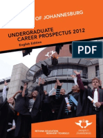 University of Johannesburg Career Prospectus ENGLISH - 2012