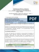 Guia de actividades y Rúbrica de evaluación - Tarea 1 - Reconocimiento de Tecnologías(1)