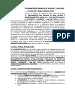 CONTRATO PRIVADO DE ADQUICISION DE INODOROS Y LAVATORIOS