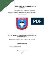 Monografia de la ley presupuesto participativo