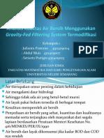 Analisis Kualitas Air Bersih Menggunakan Gravity-Fed Filtering System