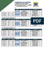 Calendario de Juegos Torneo de Clausura 2020-2021 - Fase de Clasificación, Etapas I y II (1)