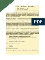 El Sistema Financiero de Guatemala