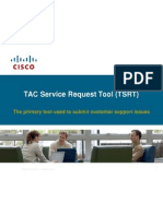 TAC Service Request Tool (TSRT)
