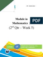Math - Week 5