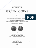 Common Greek coins. Vol. I