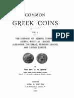 Common Greek coins. Vol. I