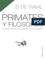 De Waall, F - Primates y Filósofos