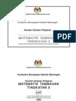 Matematik - Matematik Tambahan Tingkatan 5