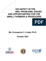 Food Safety in the Philippines Problems, Issues and Opportunities for the Small Farmers and Produ