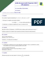 TS spé Contrôle 23-1-2013