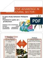 COMPARATIVE ADVANTAGE IN AGRICULTURAL SECTOR
