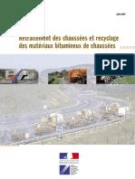 DT3571 Retraitement Des Chaussées Et Recyclage Des Materieaux Bitimuneux de Chaussées