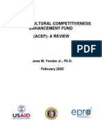 The Agricultural Competitiveness Enhancement Fund (Acef) a Review